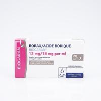 BORAX/ACIDE BORIQUE 20 unidoses Biogaran (Borax/Acide borique)