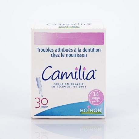 CAMILIA solution buvable 30 unidoses (Chamomilla vulgaris,Phytolacca decandra, Rheum)