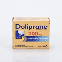 DOLIPRANE 200mg  bte 12 sachets  (Paracétamol)