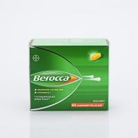 BEROCCA 60 cp (Vit B1,B2,B6,B3,B5,H,B9,C,Carbonate de calcium,Mg,Zn)