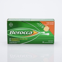 BEROCCA 30 cp eff  (Vit B1,B2,B6,B3,B5,H,B9,C,Carbonate de calcium,Mg,Zn)