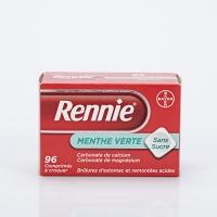 RENNIE Menthe 96 cp sans sucre (Carbonate de calcium,magnésium)
