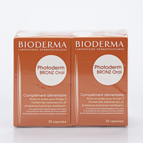 BIODERMA Photoderm Bronz oral 30 capsules lot de 2 boites