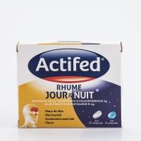 ACTIFED Rhume Jour et Nuit ( jour : paracétamol pseudoéphédrine, nuit : paracétamol diphénhydramine)