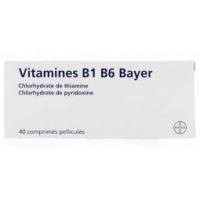 VITAMINE B1 B6 Bayer 40 cp (Chlorhydrate de thiamine et pyridoxine)