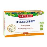SUPER DIET Levure de Bière Bio 20 Ampoules de 15 ml