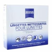 ZEISS Lingettes Nettoyantes pour Lunettes 30 Lingettes