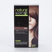 NATURE ET SOIN Coloration 6GC Blond Foncé Doré Cuivré Santé Verte