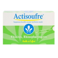 ACTISOUFRE Suspension Buvable ou Instillation Nasale 30 Ampoules de 10 ml