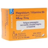 MAGNESIUM/VITAMINE B6 48mg/5mg 50 cp (Magnésium,vit B6)