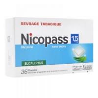NICOPASS 1,5 mg (nicotine) Eucalyptus 96 Pastilles