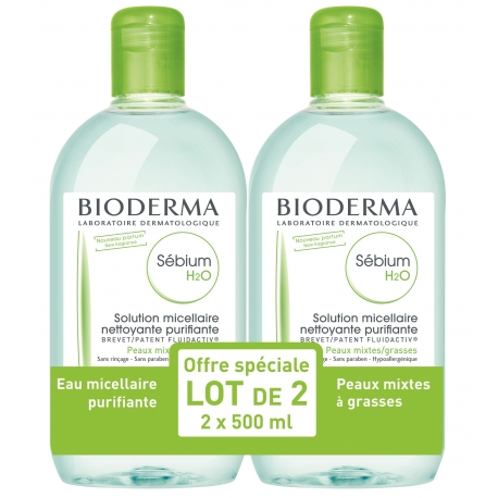 BIODERMA Sébium H20 500ml Lot de 2