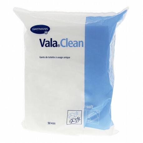 Vala Clean Soft Gants de toilette à usage unique Sachet de 50