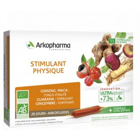 Arkofluides Stimulant Physique 20 ampoules