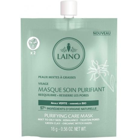 LAINO Masque Soin Purifiant Peaux Mixtes à Grasses 16g