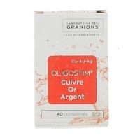 Granions Oligostim Cuivre, Or, Argent 40 comprimés