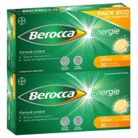 BEROCCA Energie 60 cS eff  (Vit B1,B2,B6,B3,B5,H,B9,C,Carbonate de calcium,Mg,Zn) Sans/Sucre
