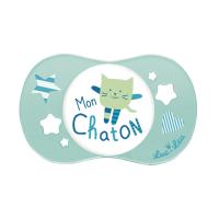 LUC et LÉA Sucette Symétrique MON CHATON 0-6 mois