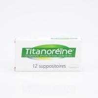 TITANOREINE 12 Suppos (carraghénates,dioxyde de titane,oxyde de zinc)