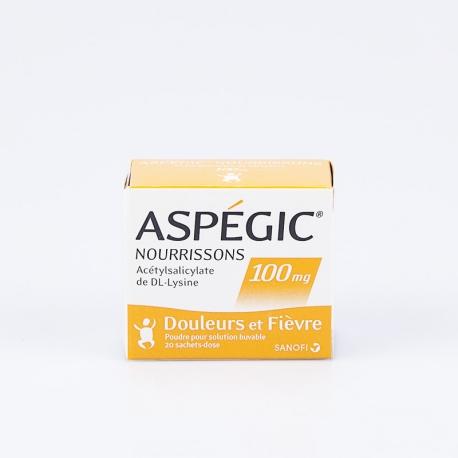 ASPEGIC 100mg nourrissons bte 20 (Acide Acétylsalicylique)