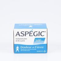 ASPEGIC 500mg adultes bte 20 (Acide Acétylsalicylique)