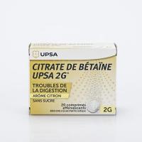 CITRATE DE BETAINE UPSA 2g citron (Citrate de Bétaïne)
