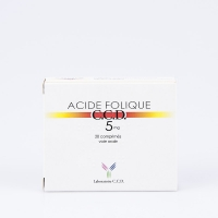ACIDE FOLIQUE C.C.D 5mg (Acide folique)
